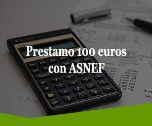 Prestamo 100 euros con ASNEF
