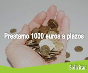 Prestamo 1000 euros a plazos
