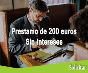 Prestamo de 200 euros sin intereses