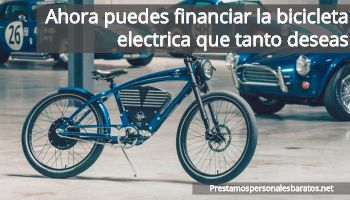financiar bicicleta electrica